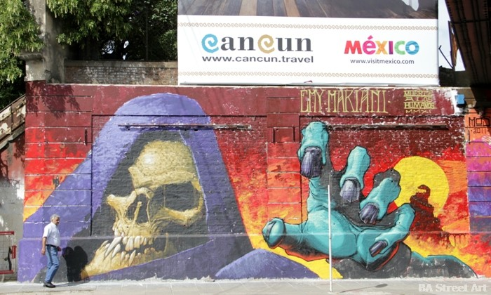 emy mariani skeletor graffiti buenos aires buenosairesstreetart.com