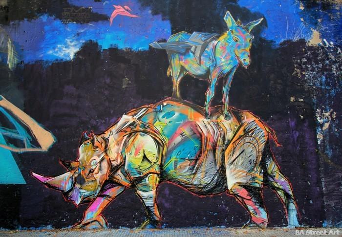 rhino graffiti animales buenos aires buenosairesstreetart.com