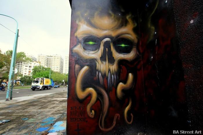 calavera grafiti buenos aires buenosairesstreetart.com
