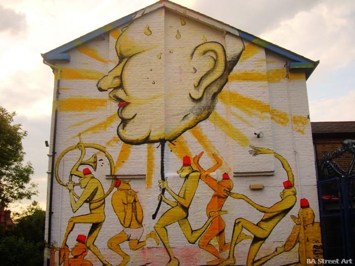 dulwich art festival graffiti murales murals london buenosairesstreetart.com