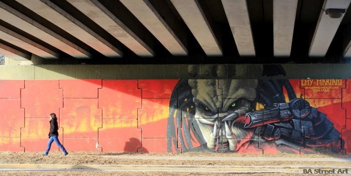 predator arnold schwarzenegger movie buenos aires street art mural buenosairesstreetart.com