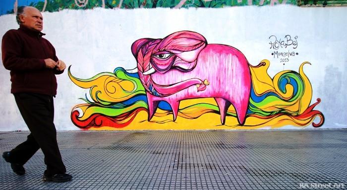 murales buenos aires pick bel pink elephant uenosairesstreetart.com