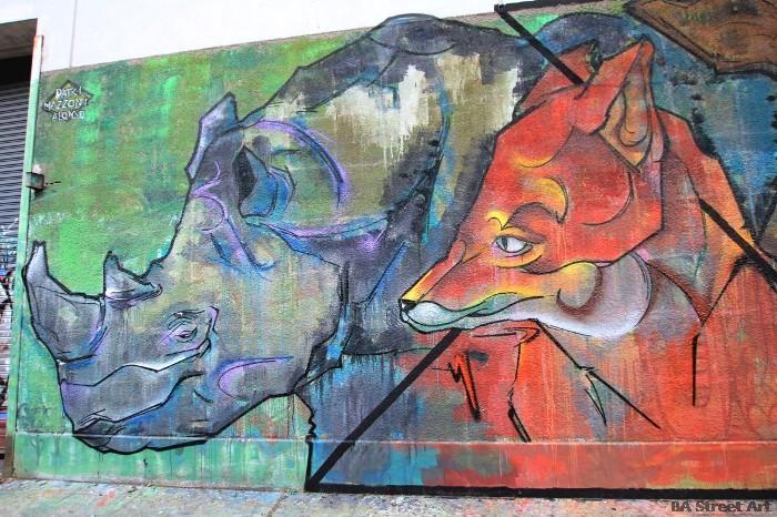 arte urbano buenos aires rinoceronte zoologico buenos aires mural buenosairesstreetart com