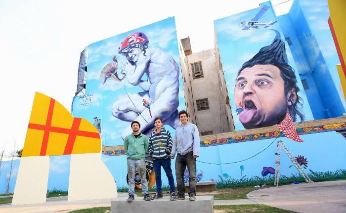Martin Ron Guilllermo Ron Juan Ignacio Antonucci Jiant mural villa urquiza