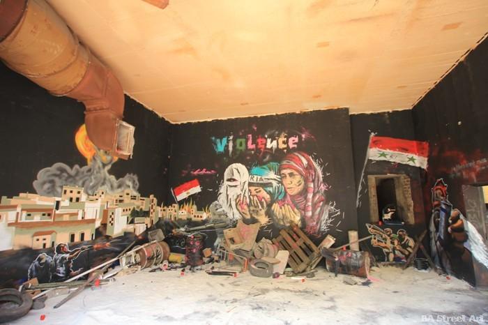 syria war mural graffiti germany street art