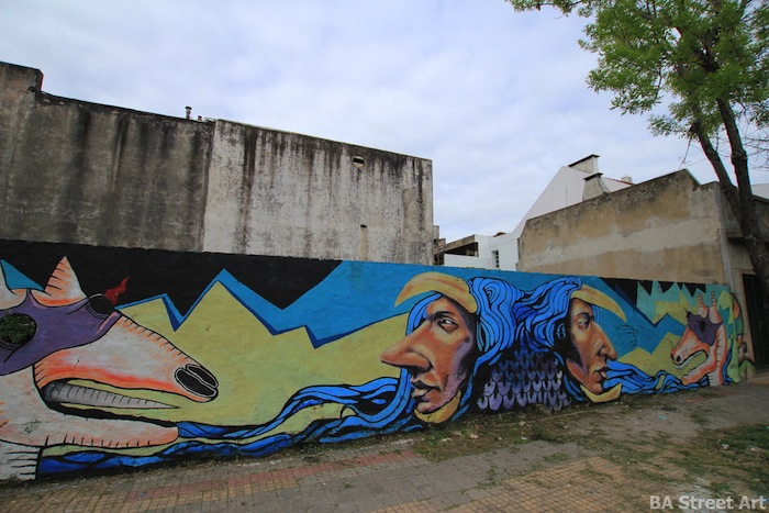 Indigenous maese warrior max marion buenos aires street art