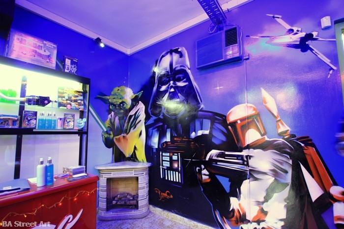 star wars graffiti darth vader boba fett buenos aires buenosairesstreetart.com