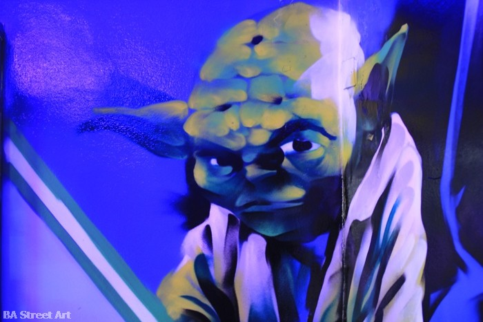yoda empire strikes back graffiti buenos aires street art buenosairesstreetart.com