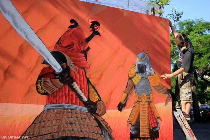 9 samurai street art japan argentina buenos aires buenosairesstreetart.com