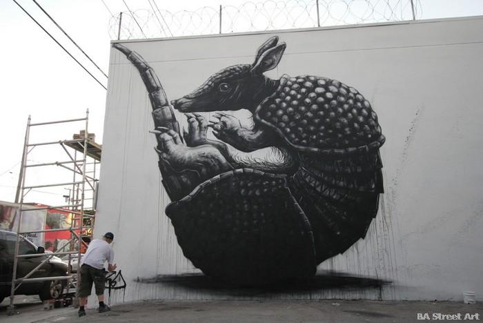 ROA mural wynwood walls miami art district belgian artist armadlilo florida