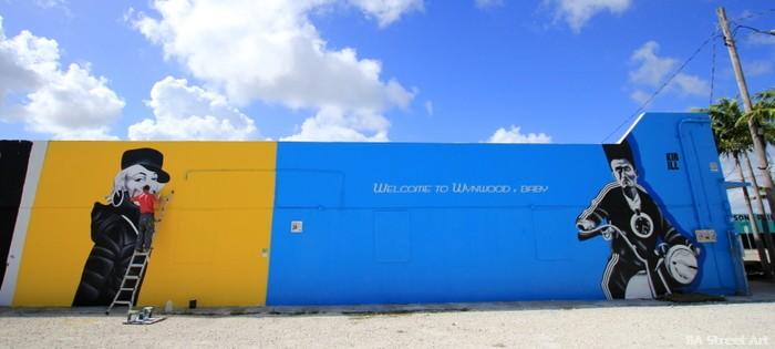 elvis street art marilyn monroe mural wynwood miami pete kirill buenosairesstreetart.com