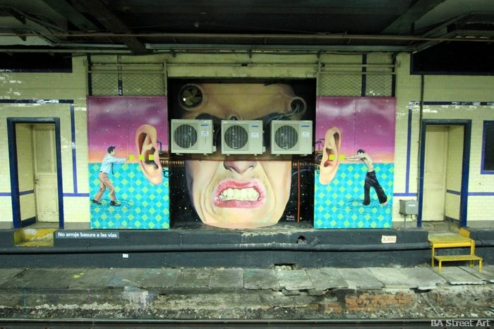 martin ron murales subte buenos aires arte urbano buenosairesstreetart.com