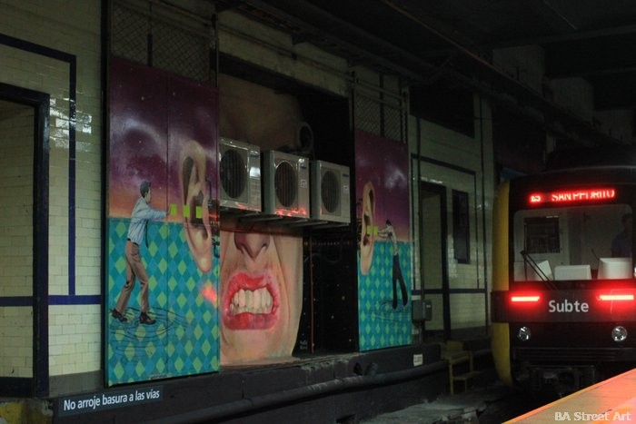 nuevos trenes plaza miserere linea H buenos aires murales buenosairesstreetart.com