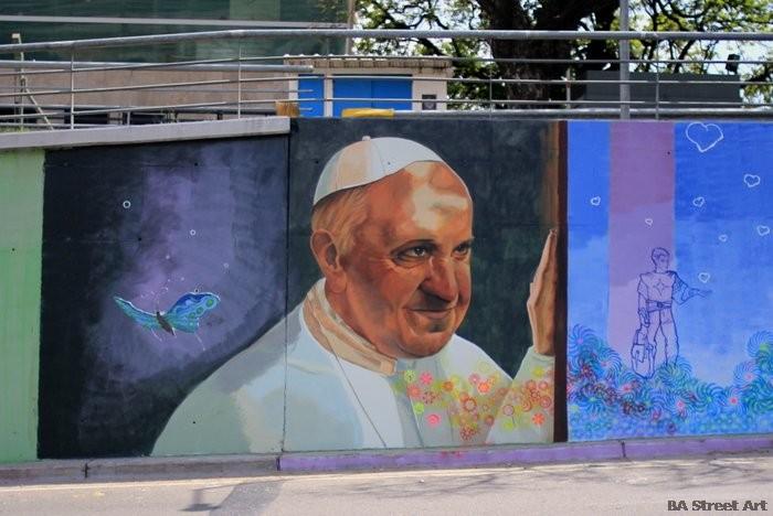 papa francisco mural buenos aires street art argentina
