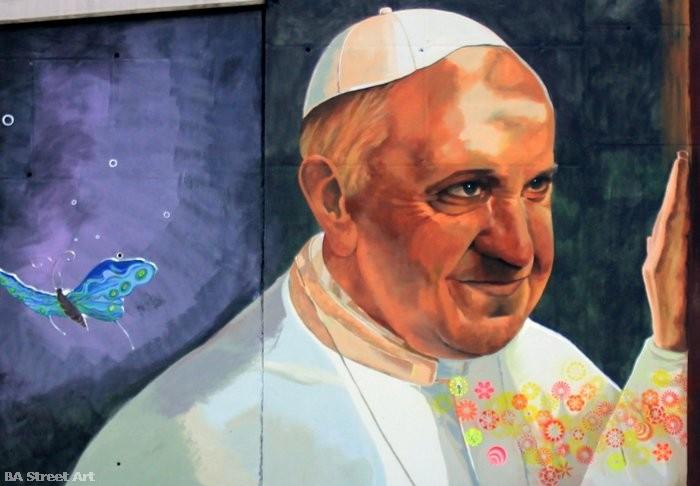 pope francis birthday buenos aires street art mural papa francisco buenos aires argentina buenosairesstreetart.com