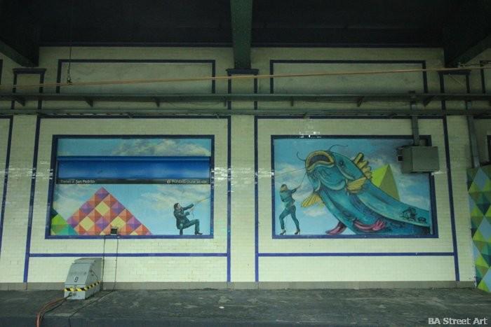 public art buenos aires subway station buenos aires underground metro buenosairesstreetart.com