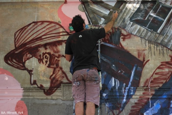 artista fintan magee muralista arte urbano argentina buenos aires BA Street Art buenosairesstreetart.com