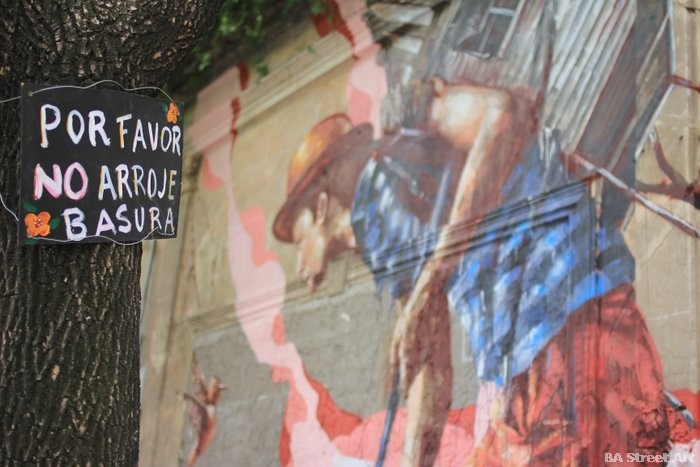 artista australiano fintan magee palermo mural buenos aires bs as argentina casa Matt Fox-Tucker buenosairesstreetart.com