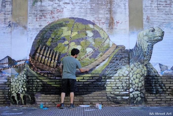 martin ron turtle graffiti argentina buenos aires buenosairesstreetart.com