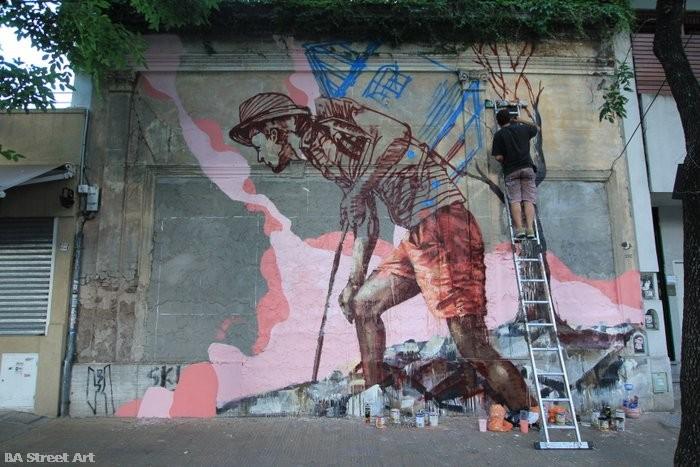 fintan magee buenos aires mural argentina organised & sponsored by BA Street Art homeless bound buenosairesstreetart.com