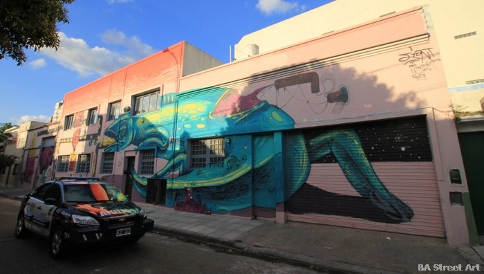 police graffiti car buenos aires jiant artista grafitero buenosairesstreetart.com mural
