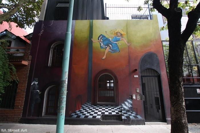 alice in wonderland mural buenos aires colegiales celine hitier buenosairesstreetart.com