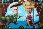margaret thatcher mural buenos aires galtieri falklands malvinas buenosairesstreetart.com