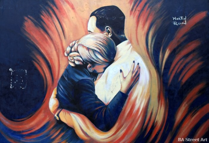 eva peron argentina street art abrazo hugging martin ron buenos aires buenosairesstreetart.com