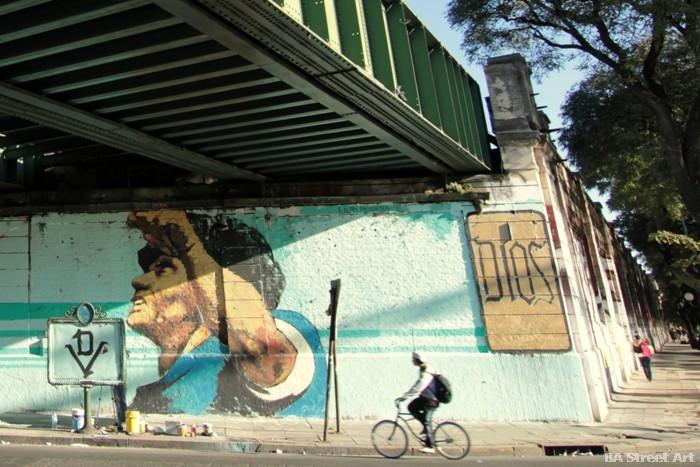 world cup mural argentina maradona buenos aires martin ron