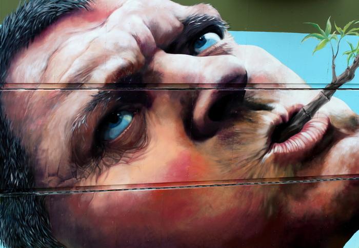 hyper realistic street art martin ron rock werchter 2014 belgium