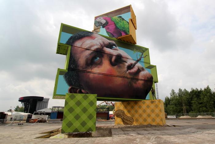 street art belgium martin ron rock werchter 2014 belgium arne quinze north west walls buenosairesstreetart.com