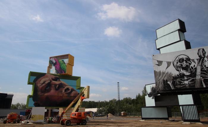 rock werchter festival musica belgica artista martin ron mural belgium