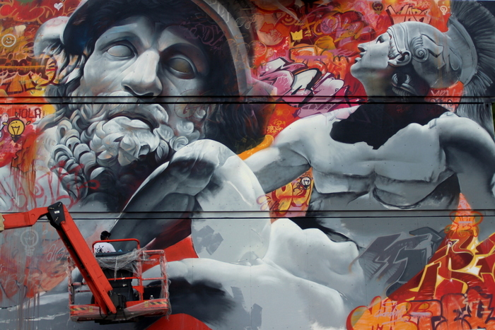 Pichi & Avo street art graffiti north west walls werchter achilles menelaus