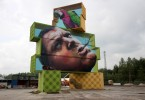 rock werchter music festival belgium artist martin ron street art container sculpture