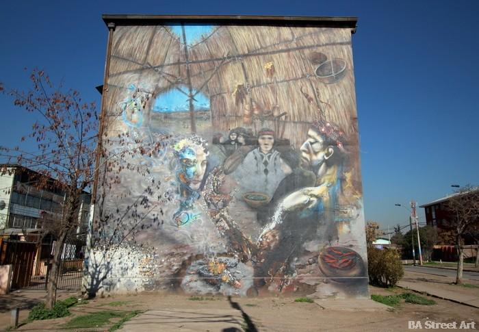 Degra, Nao, Teo, Yono Mona street art chile santiago