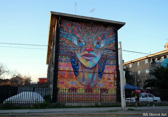 museo cielo abierto chile graffiti street art charquipunk la robot de madera buenos aires street art buenosairesstreetart.com