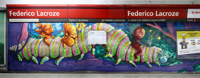 federico lacroze metro station murals buenos aires chacarita cemetery argentina buenosairesstreetart.com
