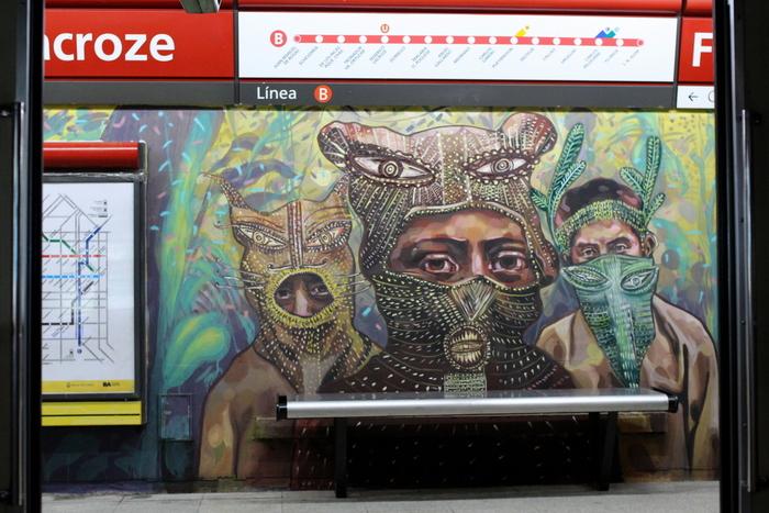 subte buenos aires murales linea buenosairestreetart.com