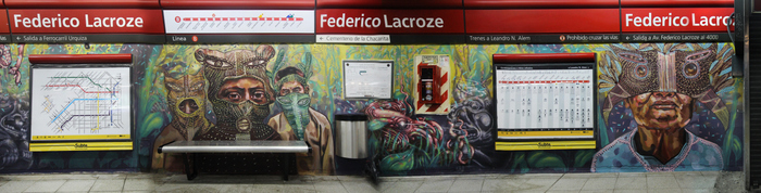 federico lacroze estacion subte murales linea b chacarita buenos aires buenosairesstreetart.com