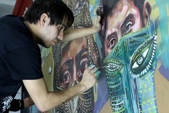 subte murales buenos aires street art murals federico lacroze metro station