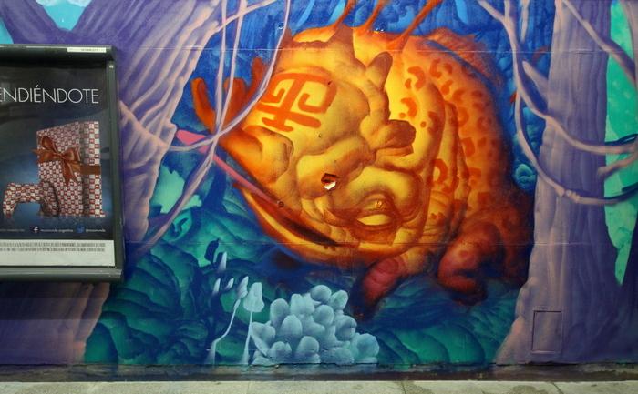 subte buenos aires estacion federico lacroze murales grafiti buenosairesstreetart.com