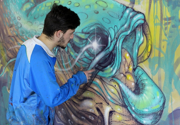 subte murales buenos aires street art federico lacroze estacion arte callejero graffiti buenosairesstreetart.com