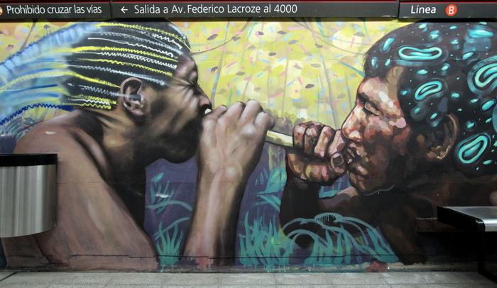 subte arte buenos aires graffiti metro buenosairesstreetart.com federico lacroze estacion chacarita