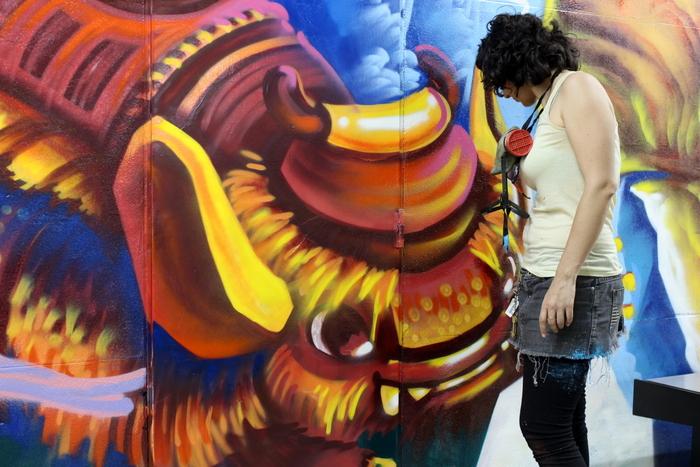 BA subte estacion federico lacroze murales buenos aires street art
