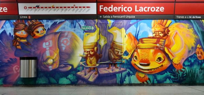 Nuevos murales en la estaci n de subte federico lacroze en for Mural metro u de chile