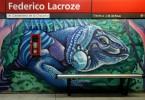 federico lacroze estacion murales linea b buenos aires