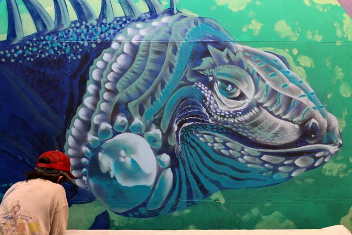 subte buenos aires murales federico lacroze street art