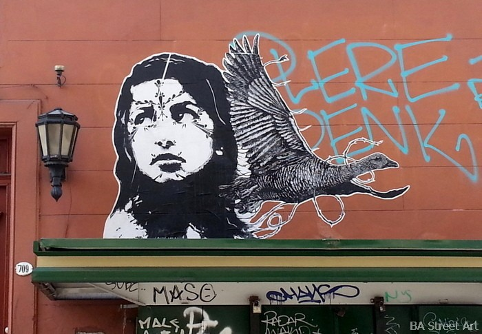 stinkfish buenos aires mazatl mural graffiti paste up street art buenosairesstreetart.com