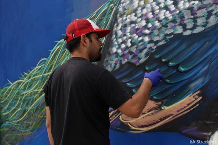ren artista chile bird graffiti buenos aires ren buenosairesstreetart.com