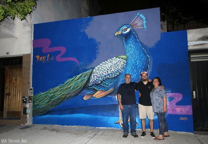 ren graffiti peacock jose y gillermina coghlan buenos aires buenosairesstreetart.com